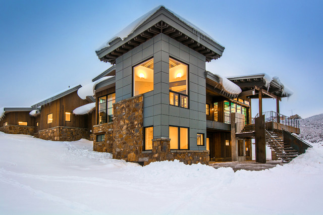 Mountain Modern Custom Rustic Exterior Salt Lake