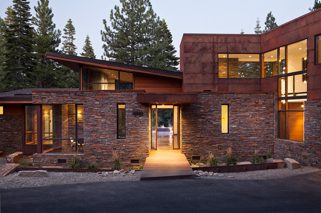 Mountain modern digs contemporary exterior for Architectural design mountain home