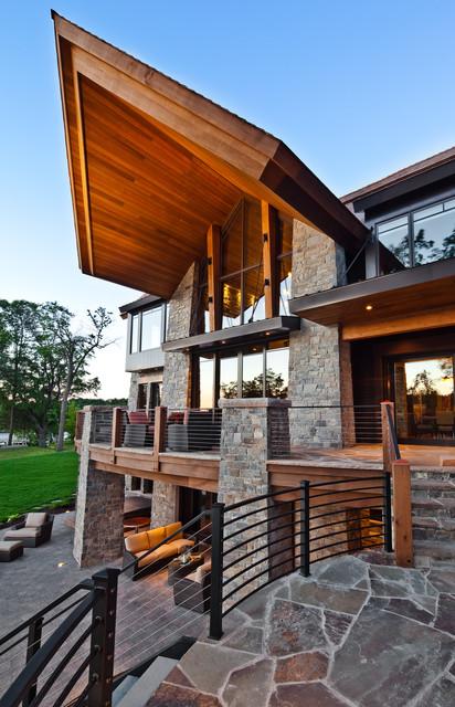 Mountain modern lakeshore eclectic exterior for Lakeshore design builders