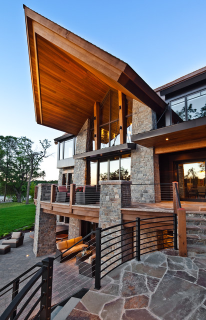Mountain Modern Lakeshore eclectic-exterior