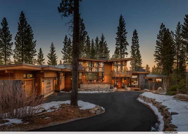 Mountain Modern Lodge Transitional Exterior San