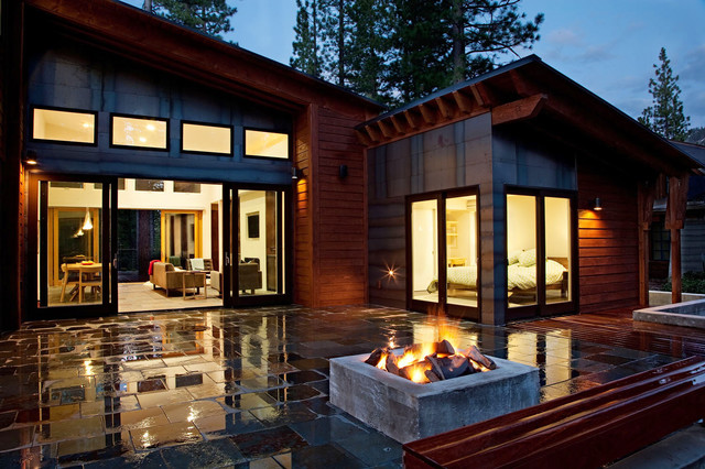 mountain modern prefab contemporary exterior