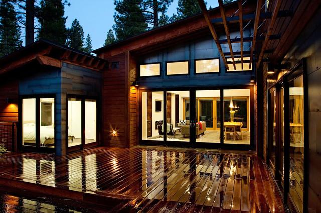 mountain modern prefab contemporary-exterior