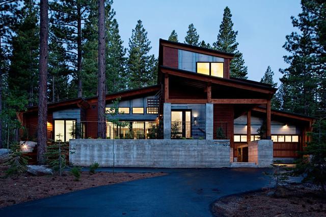 Mountain modern prefab for Mountain modern house plans