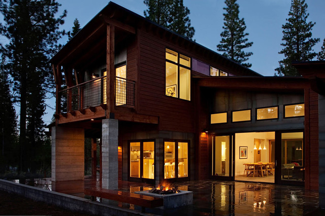 mountain modern prefab contemporary-exterior