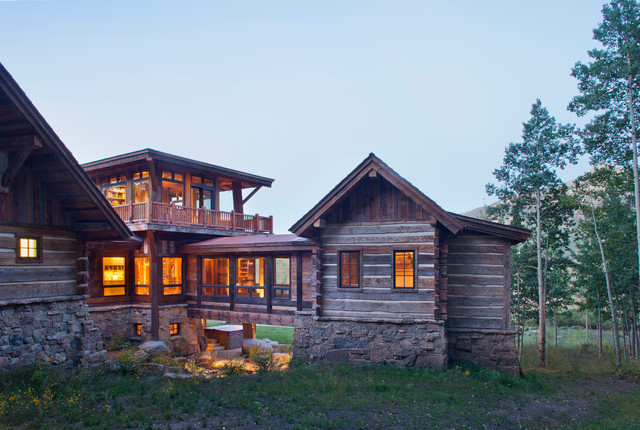 mountain ranch rustic exterior other by copper creek homes llc. Black Bedroom Furniture Sets. Home Design Ideas