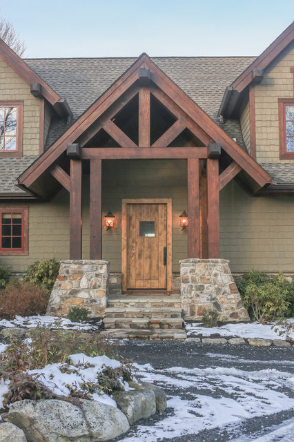 Mountain Retreat Rustic Exterior Charlotte By Durham Designs Consulting Llc