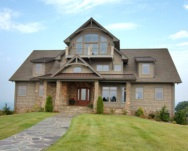 Mountain top home traditional exterior charlotte for Pippin home designs