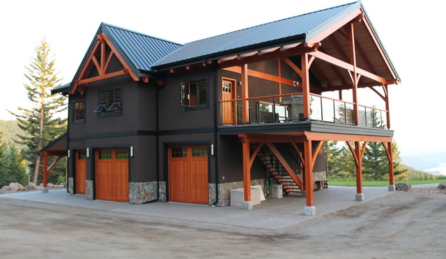 Mountain top Timber Frame - Traditional - Exterior - Vancouver - by ...