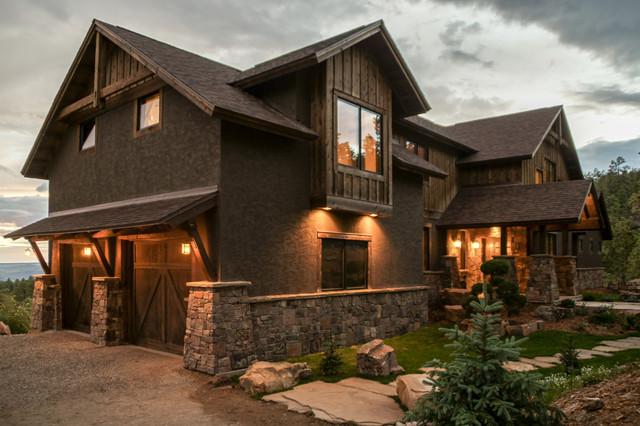 Mountain zen rustic exterior albuquerque by kogan for Rustic home albuquerque