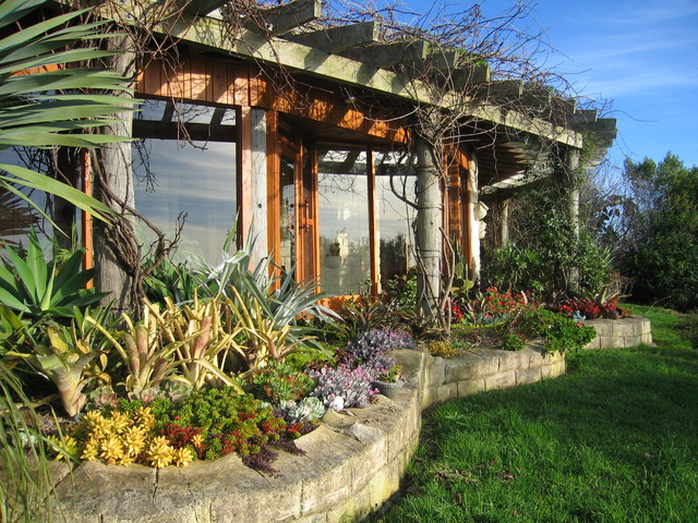 Mud Brick House Eclectic Exterior
