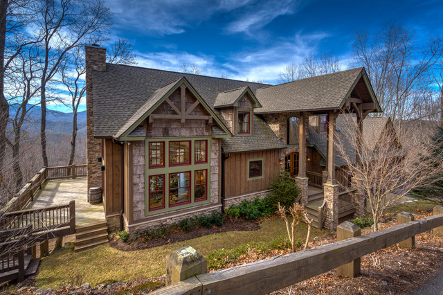 Mulberry Place Custom Lodge Rustic Exterior Charlotte By VPC Builders LLC