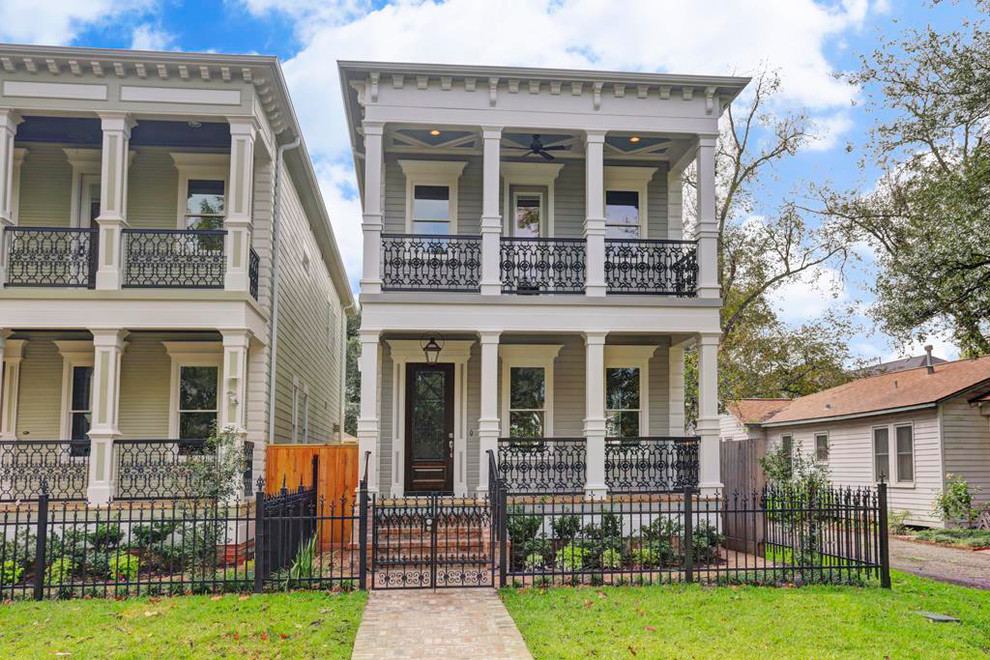Multiple Houston Heights New Orleans Style Homes Victorian Exterior Houston By Hspartners