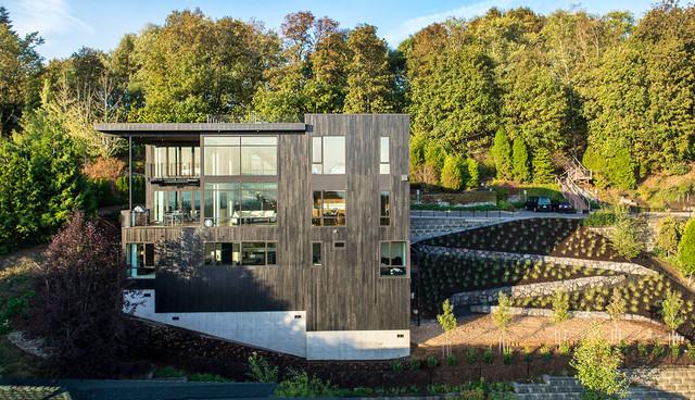 music box residence contemporary exterior portland. Black Bedroom Furniture Sets. Home Design Ideas