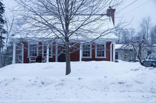 Liz & John: Sutton, QC farmhouse-exterior