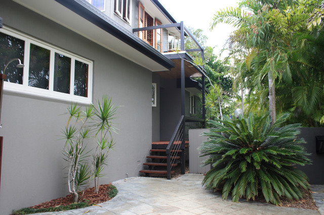 My Houzz Beach Meets Bush In A Caribbean Inspired Noosa Home Mediterranean Exterior