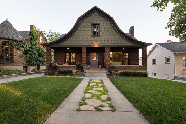 Inspiration For A Timeless Two Story Mixed Siding Exterior Home Remodel In Salt Lake City