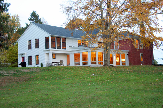 New family room/ kitchen, and renovations to existing house traditional-exterior