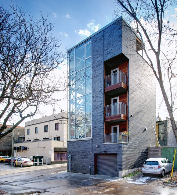 My houzz urban tower industrial exterior toronto for Houzz small apartments