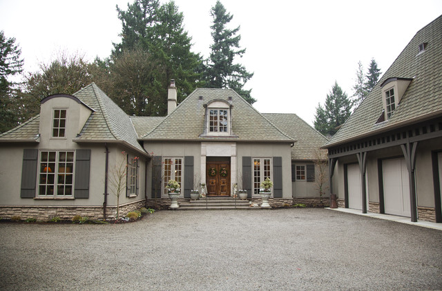 Dede 39 s traditional exterior portland by whitney lyons for French country house exterior
