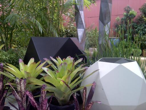 my work @ flora grubb gardens eclectic-exterior