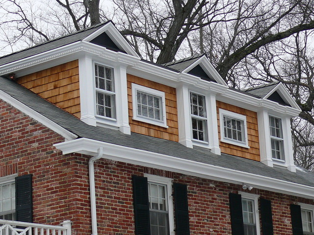 Nantucket dormer traditional exterior boston by for Cape dormers