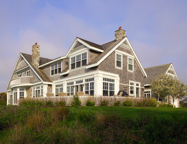 Nantucket residence exterior beach style exterior for Nantucket house plans