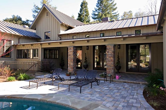 Napa Valley style custom estate home by custom home builder,Saratoga CA eclectic-exterior