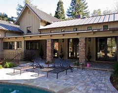 Napa Valley style custom estate home by custom home builder,Saratoga CA eclectic exterior