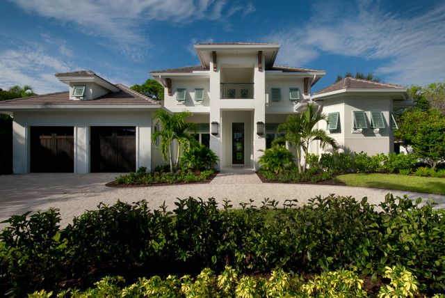 Naples fl west indies style home for Modern florida homes