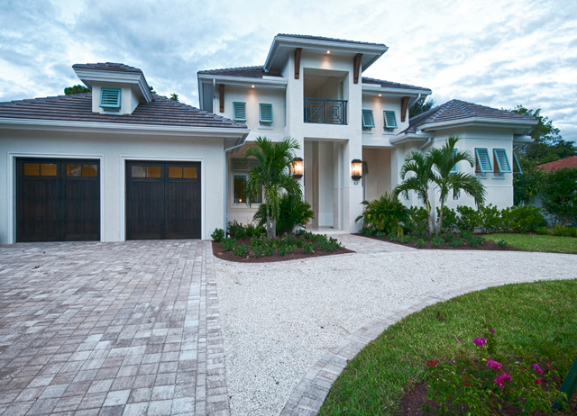 Naples Fl West Indies Style Home Tropical Exterior Miami