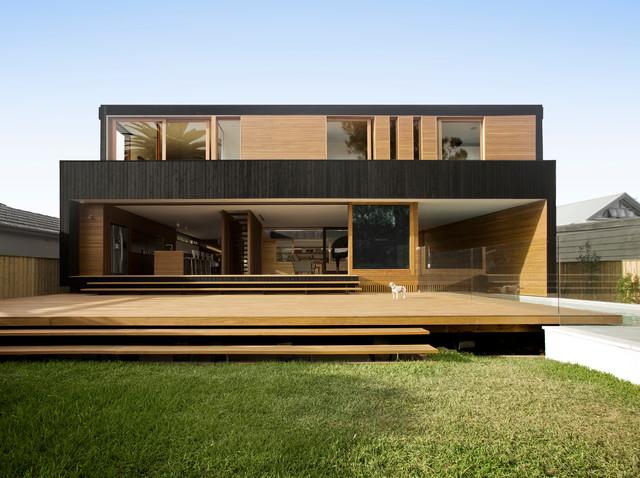 Narrabeen House moderno-facciata