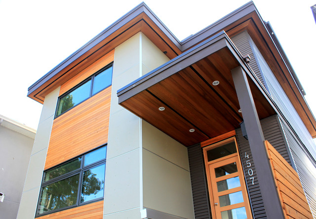 Narrow passive house vancouver bc modern exterior for Modern home decor vancouver