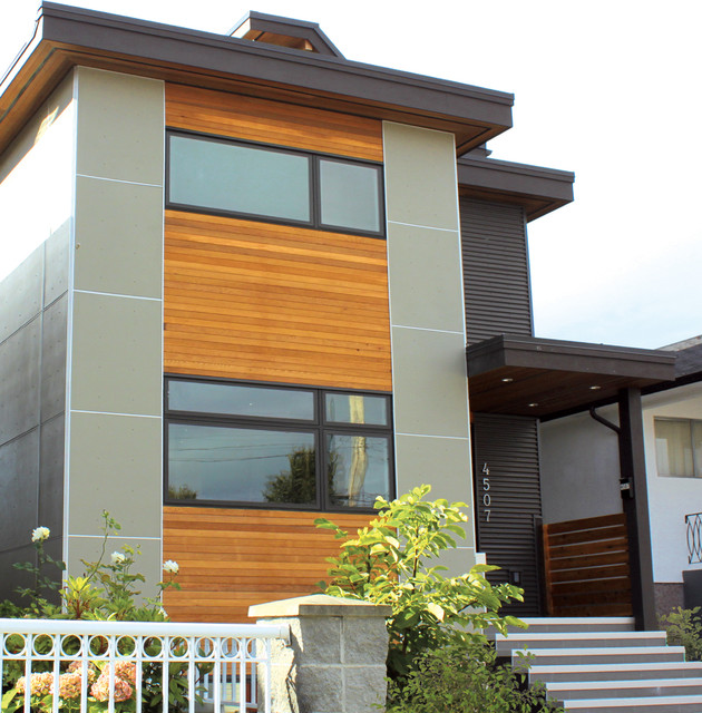 Modern side tables and accent tables jpg - Narrow Passive House Vancouver Bc Modern Exterior