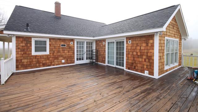 Natural cedar shake siding farmhouse exterior other for Shakes on house