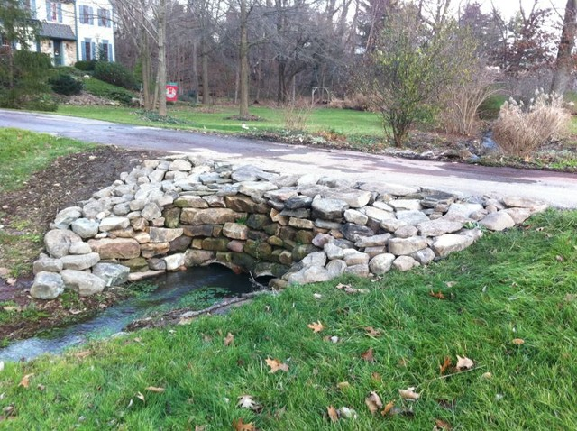 Natural Stone Culvert Traditional Exterior Philadelphia By