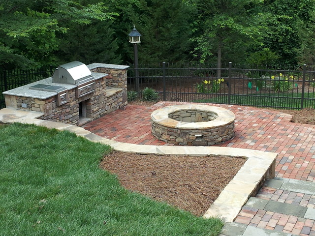Natural Stone Outdoor Grill amp Fire Pit