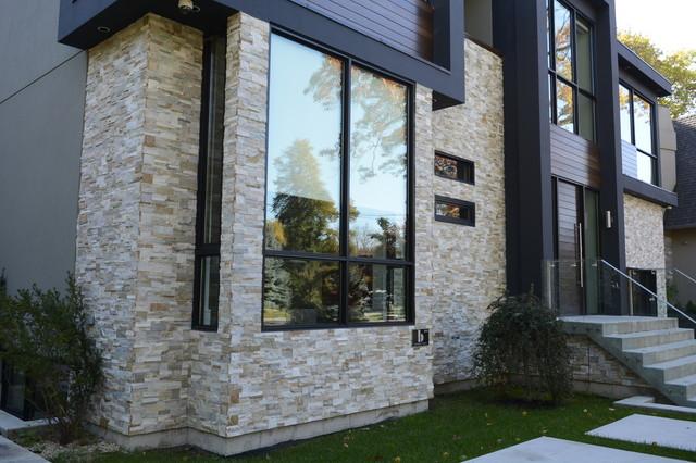 natural stone panel contemporary exterior toronto by stone selex