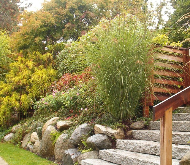 Natural Stone Retaining Wall Exterior Vancouver By Contour Landscape In