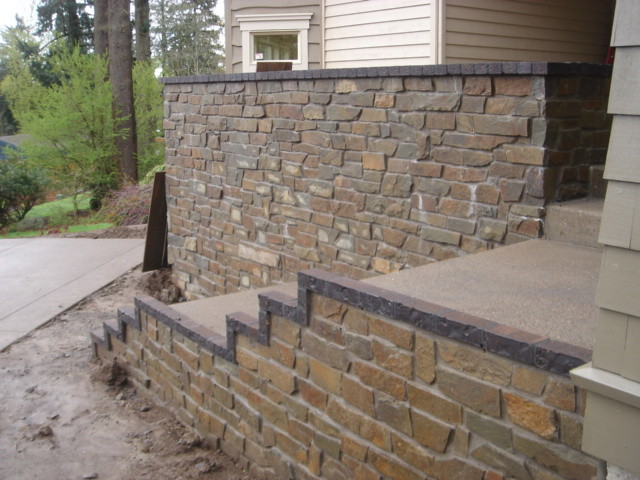 Natural Stone Veneer Exterior Traditional Exterior Portland By Brown Bros Masonry