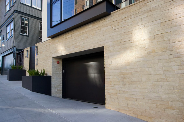 Natural stone veneer contemporary exterior other by maiden stone inc - Houses natural stone facades ...