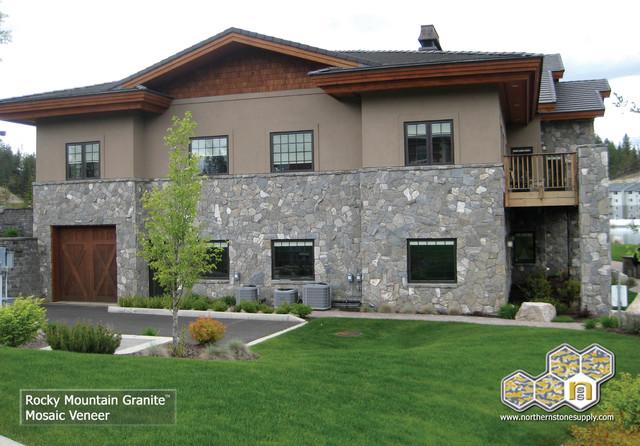 Natural Stone Veneer Rocky Mountain Granite Modern Exterior