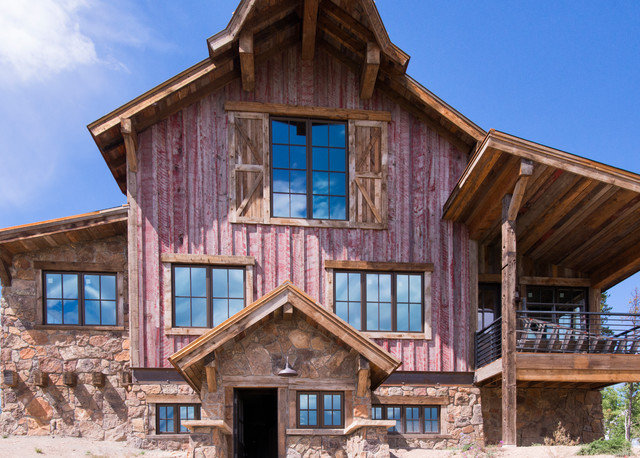 nature aged barnwood siding red painted rustic exterior salt lake city by trestlewood