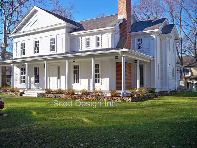 Greek Revival Farmhouse Fair New 1850's Greek Revival Farm House  Farmhouse  Exterior  New Review