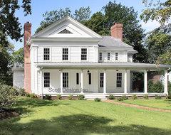 New 1850's Greek Revival Farmhouse farmhouse-exterior