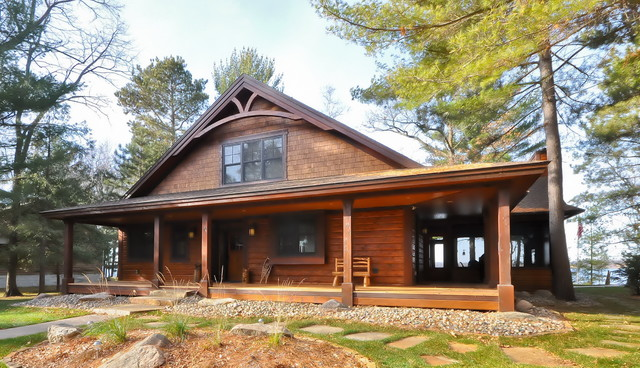 New cabin up north traditional exterior minneapolis for Up north cottages