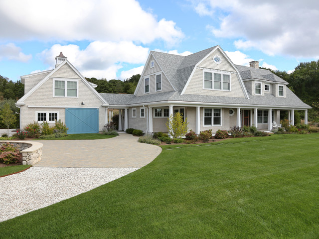 New cape cod home farmhouse exterior boston by for New construction farmhouse