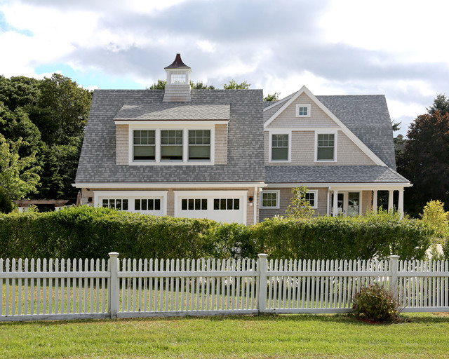 New cape cod home farmhouse exterior boston by for Cape cod exterior