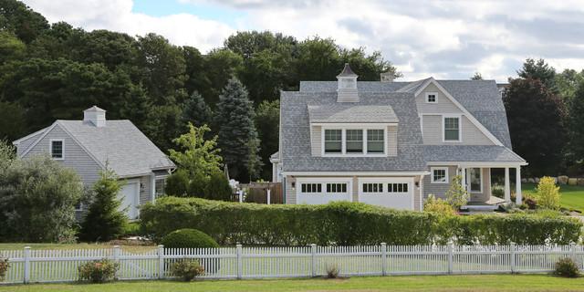 New cape cod home farmhouse exterior boston by New homes cape cod