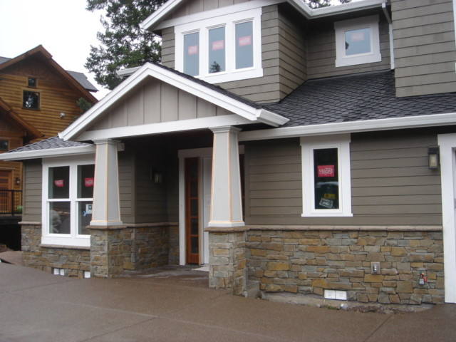 New construction natural stone west linn traditional for Exterior natural stone for houses